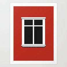 Reykjavik Window Art Print
