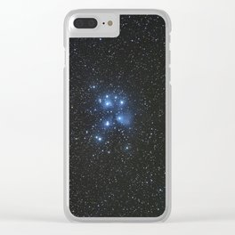 Peiades star cluster and a Orionid Meteor Clear iPhone Case