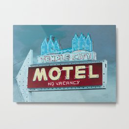 Temple City Motel Metal Print