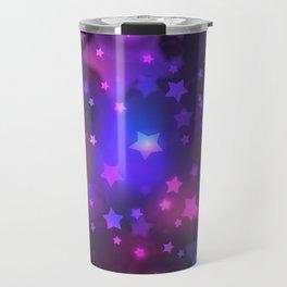 Mystical Magenta Star Galaxy Travel Mug