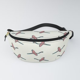Pink Flamingo watercolor pattern beige Fanny Pack