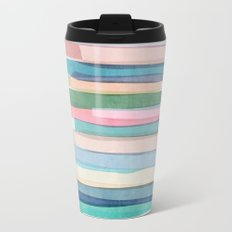 Pastel Stripes 1 Travel Mug