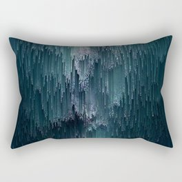 Frost Glitches Rectangular Pillow