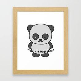 Panda says you're a huge cunt Framed Art Print