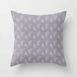 Mauve Eucalyptus Throw Pillow