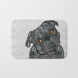 Black Pug 2016 Bath Mat
