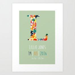 Baby Name Print Art Print