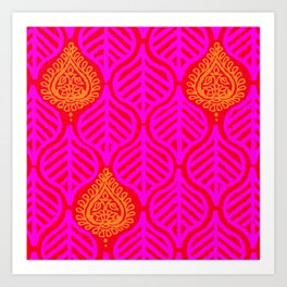 PLANTAIN PALACE - RED/PINK/ORANGE Art Print