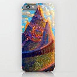 Story Book Fairy-Tale Castle Amid the Mountains landscape by Mikalojus Konstantinas Čiurlionis iPhone Case