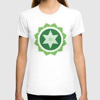 chakra T-shirts featuring Heart Chakra by Iron Elefante