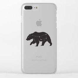 Ursa Major Bear Clear iPhone Case