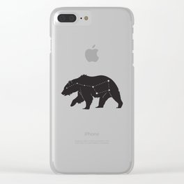 Ursa Major Bear Clear iPhone Case