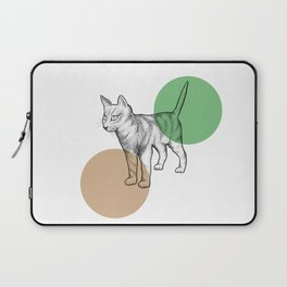 cat in the circle Laptop Sleeve