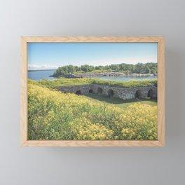Suomenlinna Helsinki | Finland travel photography | Bright and pastel colored photo print |  Framed Mini Art Print