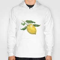 lemon Hoodies featuring Lemon by Trinity Mitchell