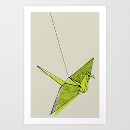 Paper Crane Art Print
