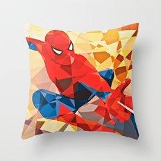 Geometric Superhero Throw Pillow
