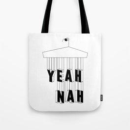 Yeah Nah Wireframe Tote Bag