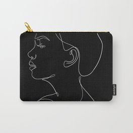 minimal line art - profile Carry-All Pouch