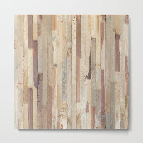Wood Planks Metal Print