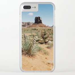 Blooming Southwest Desert Yucca Clear iPhone Case