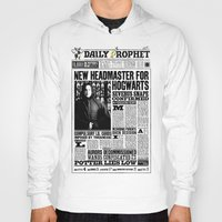 """snape Hoodies featuring Daily Prophet """"NEW Head Master, Severus Snape"""" by Win Graphics"""