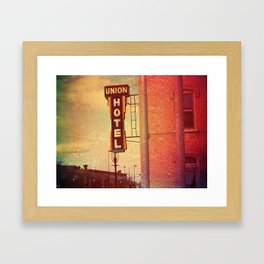 Union Hotel Framed Art Print