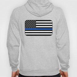 Thin Blue Line American Flag Hoody