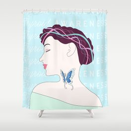 Thyroid (aka the Butterfly gland) Awareness Shower Curtain