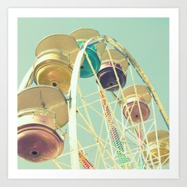 Pastel Ferris Wheel Art Print