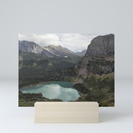 Grinnell Lake from the Trail No. 2 - Glacier NP Mini Art Print