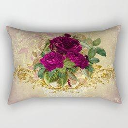 Decadent Velvet Rose Rectangular Pillow