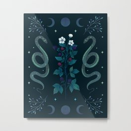 Serpent and Wild Berries Metal Print
