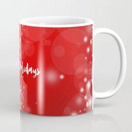 Modern stylish red white Christmas typography Coffee Mug