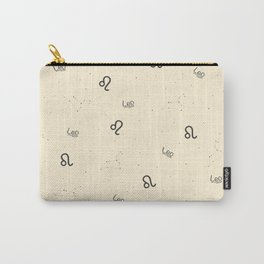 Leo Pattern - Beige Carry-All Pouch