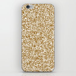 Tiny Spots - White and Golden Brown iPhone Skin