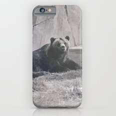 GRIZZLY BEARS  PHOTOGRAPH - BLACK AND WHITE  Slim Case iPhone 6s
