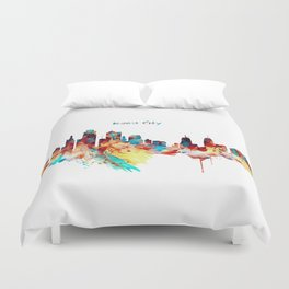 Kansas City Skyline Silhouette Duvet Cover