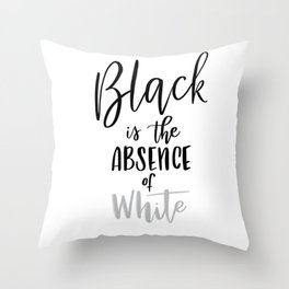 Absence of White Throw Pillow
