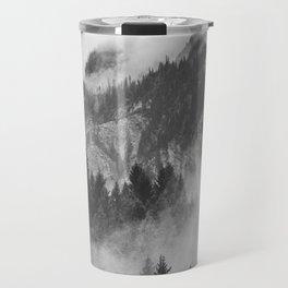 Vancouver Fog B&W Travel Mug