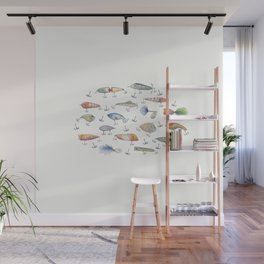 Fishing Lures Wall Mural