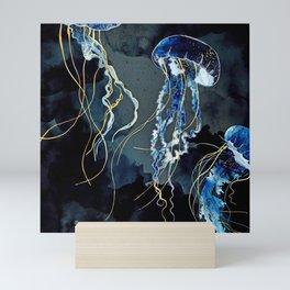 Metallic Ocean III Mini Art Print