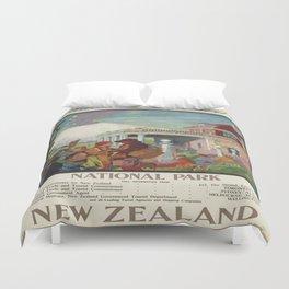 Vintage poster - New Zealand Duvet Cover