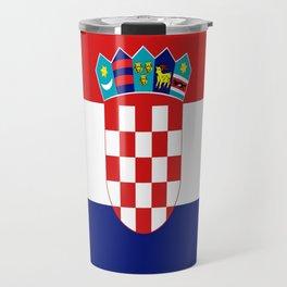 Flag of croatia -croatian, Hrvatska,croat,croacia,Zagreb,split,rijeka,osijek. Travel Mug