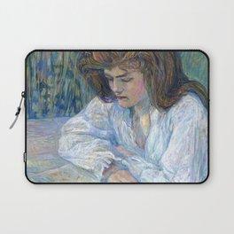 """Henri de Toulouse-Lautrec """"The Reader (La Liseuse)"""" Laptop Sleeve"""