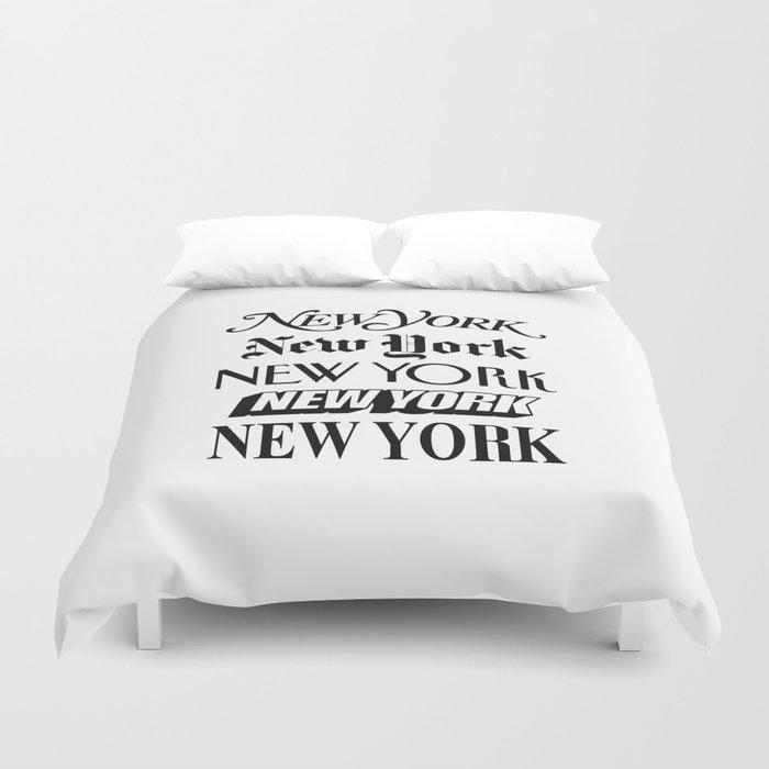 I Heart New York City Black and White New York Poster I Love NYC Design black-white home wall decor Duvet Cover