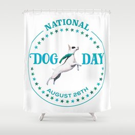 National Dog Day Shower Curtain
