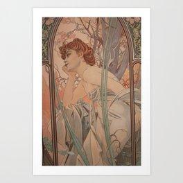 Alfonse Mucha HF2 Art Print