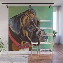 Boxer Dog Keeley Pet Portrait Wall Mural