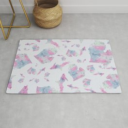 Michigan Cotton Candy Watercolor Pattern Rug